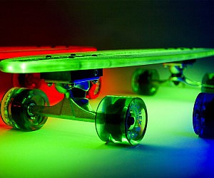 Illuminated Skateboard
