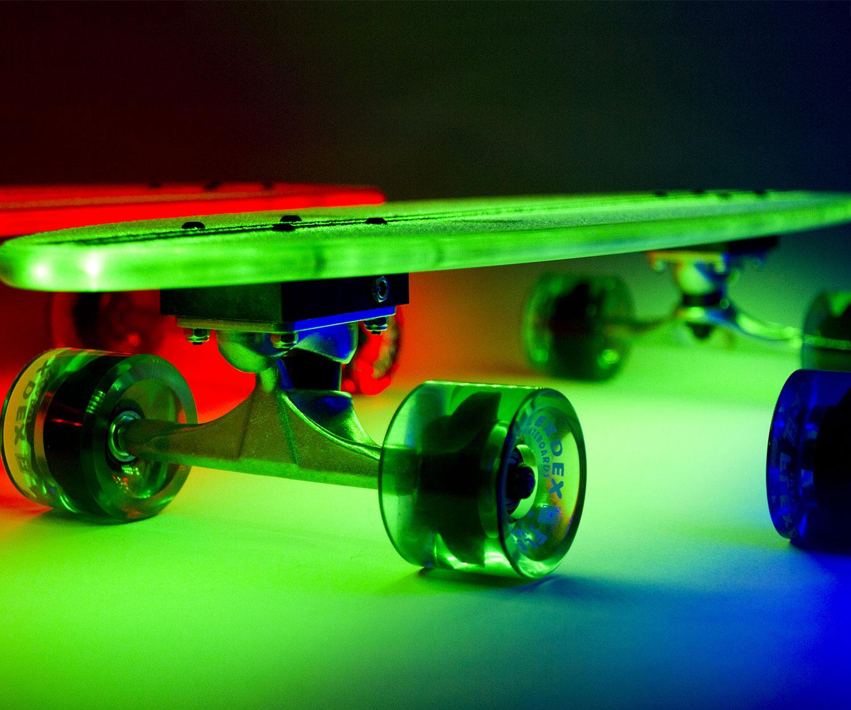 Illuminated Skateboard