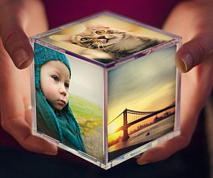 Illuminating Instagram Photo Cube