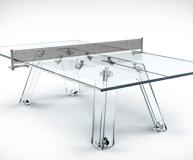 Sensational Crystal Glass Ping Pong Table Home Interior And Landscaping Dextoversignezvosmurscom