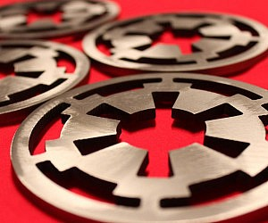 Imperial Cog Steel Coasters
