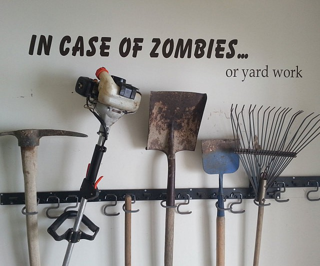 Stunning In Case Of Zombies Wall Decal