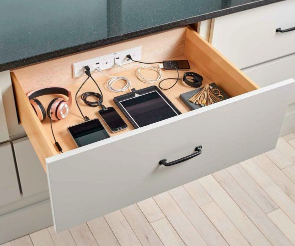 In-Drawer Charging Outlet