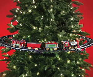 in tree christmas train - Christmas Train Decoration