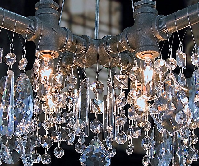 Cute Industrial Piping Chandelier