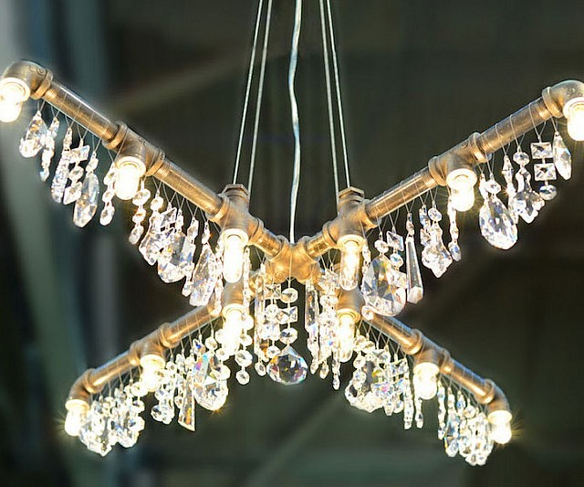 Fresh Industrial Piping Chandelier