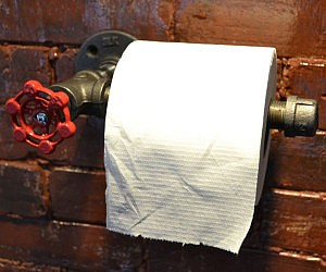 gold flake toilet paper. Industrial Pipe Toilet Paper Holder Gold