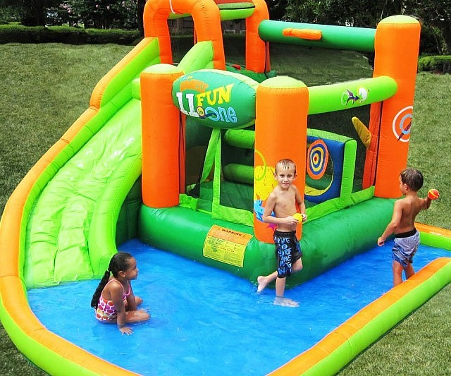Ultimate Inflatable Backyard Water Park inflatable water slide bounce house