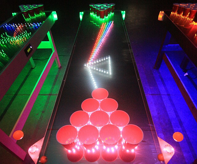 interactive led beer pong table rh thisiswhyimbroke com DIY Beer Pong Table DIY Beer Pong Table