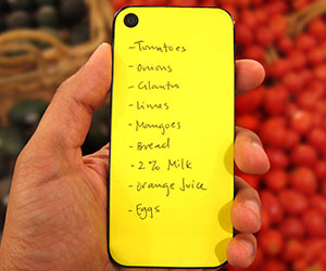iPhone Sticky Notepad