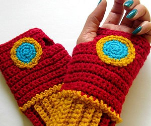 Iron Man Crochet Wristwarmers