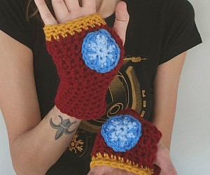 Iron Man Crocheted Hand Warmers