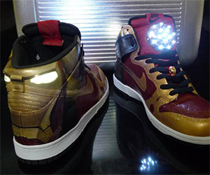 6b168ee838aff Iron Man Light Up Shoes