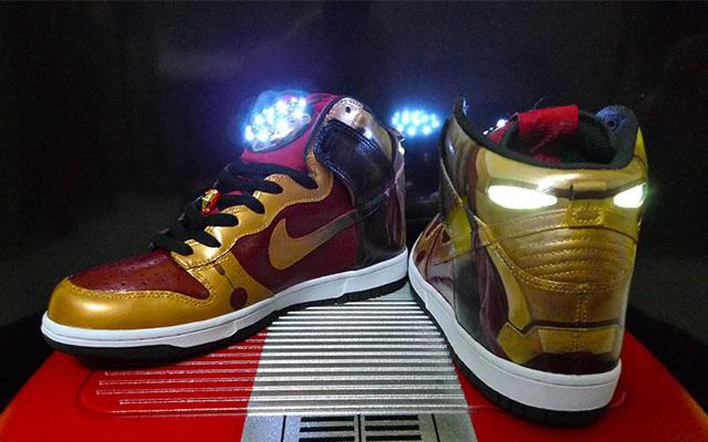 & Iron Man Light Up Shoes