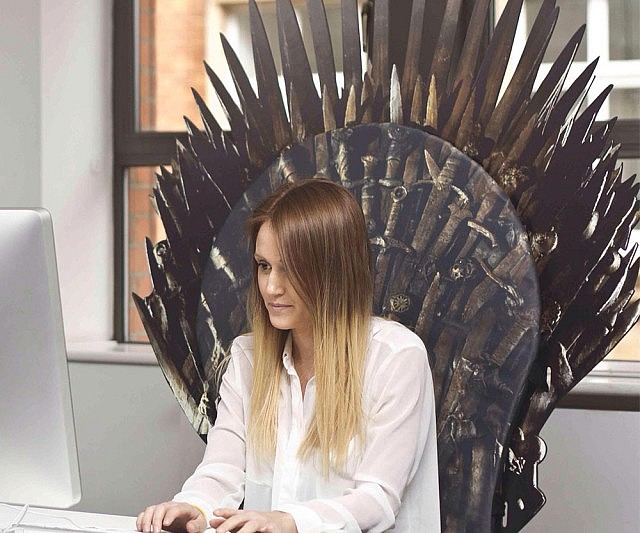 Iron throne chair backboard for Iron throne bean bag