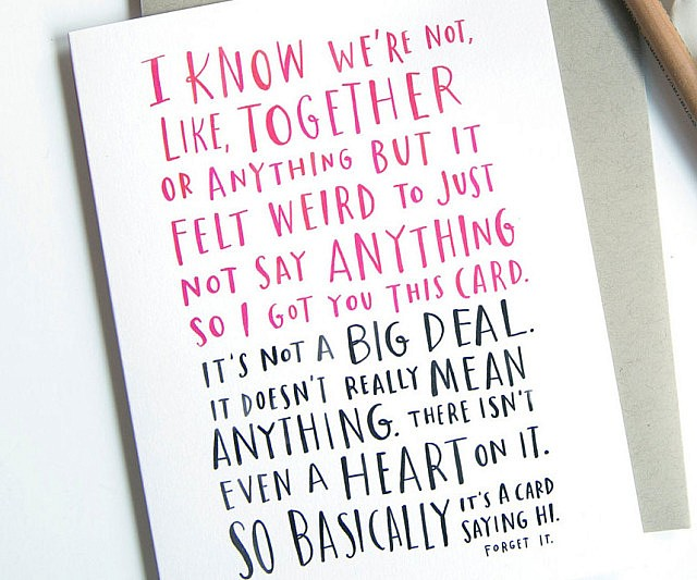 It's Complicated Valentines Card