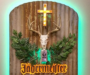 Realistic Jagermeister Logo Sign