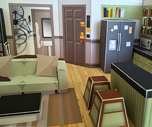Seinfeld's Apartment Papercraft