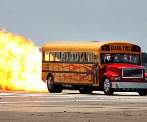 Jet Powered School Bus