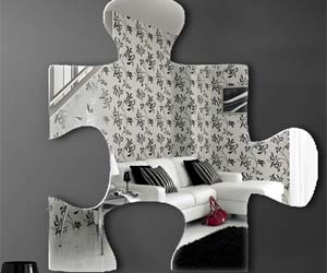 Jigsaw Piece Mirror