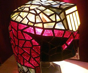 Beautiful Judge Dredd Stained Glass Lamp