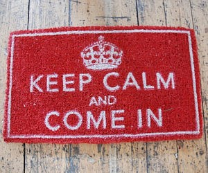 Keep Calm Door Mat