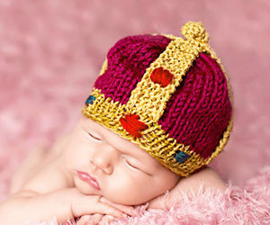 Knitted Crown Beanie