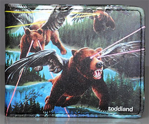 Flying Laser Bears Wallet