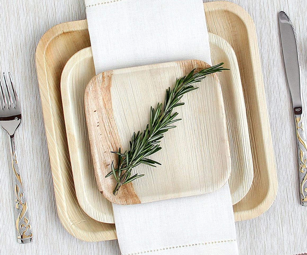 Biodegradable Palm Leaf Plates