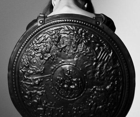 Leather Shield Bag