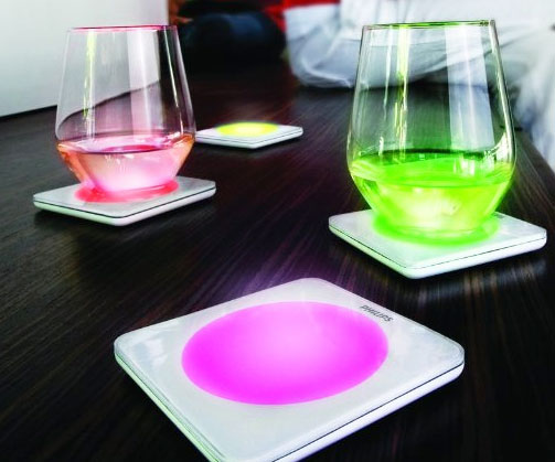 & LED Drink Coasters
