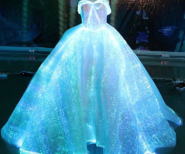 Luminous Fiber Optic Wedding Dress - coolthings.us