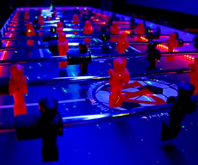 LED Foosball Table - Foosball table light