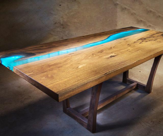 Led Light River Table