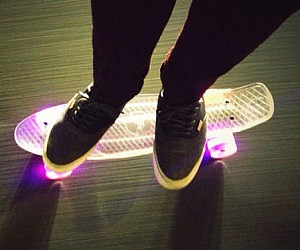 LED Skateboard Deck
