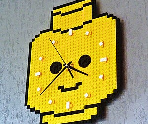 LEGO Head Wall Clock