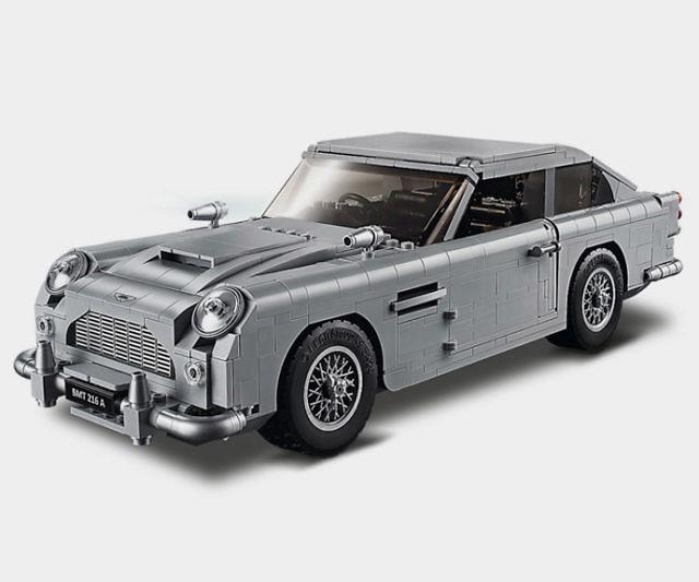 M LEGO® Birthday card James Bond LEGO® car Black and white Aston Martin DB5