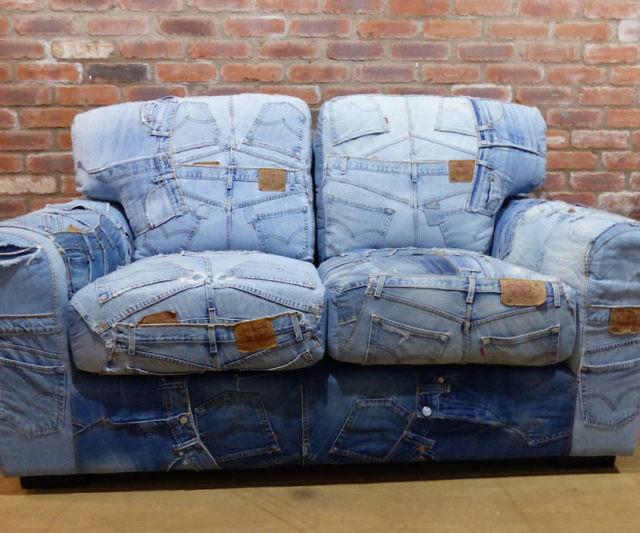 Denim Sofa Impressive Denim Sectional Sofa With Blue 14