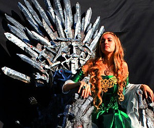Life Size Iron Throne Replica