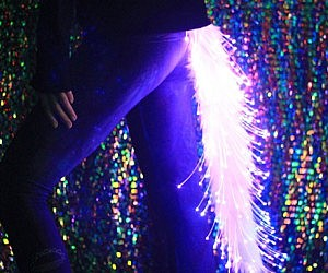 Light Up Fiber Optic Furry Tail