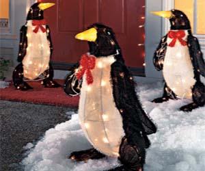 Light Up Penguin Decorations