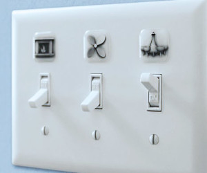 Superbe Light Switch Cover Labels
