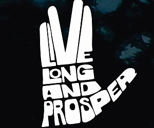 Live Long And Prosper Car Decal
