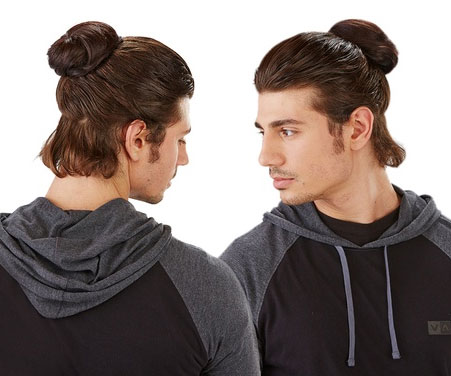 The Clip-On Man Bun