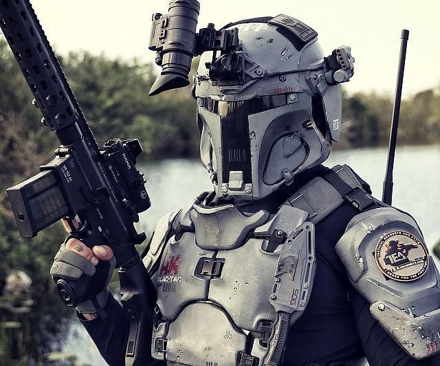 & Boba Fett Mandalorian Ballistic Armor