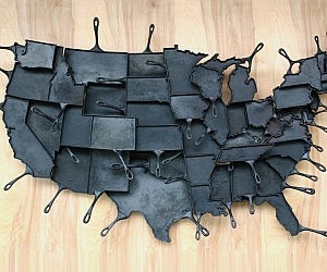 Map of America Cooking Pans