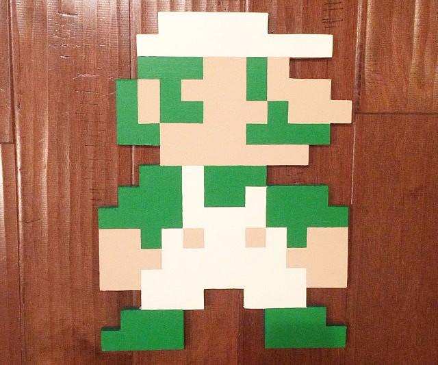 Super Mario Bros 8-Bit Wall Art