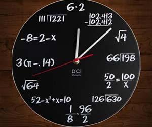 Math Clock | eBay