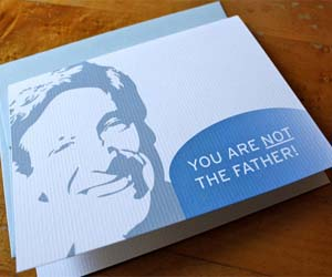 you are not the father card