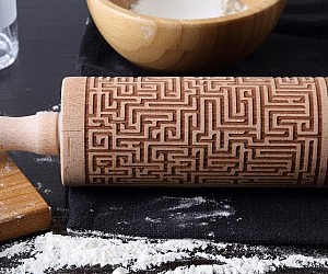 Engraved Maze Rolling Pin